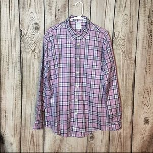 Brooks Brothers Pink Checkered Button Down Shirt